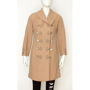 Vintage Wool Coat with Decorative Closures